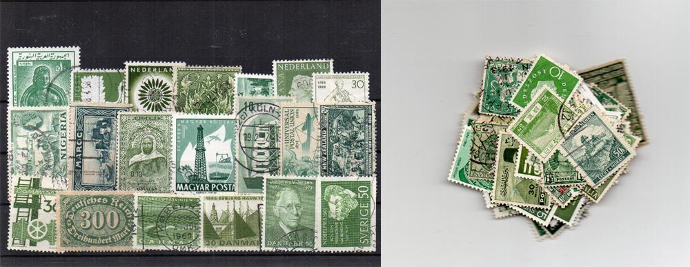 140 selos diferentes de cor verde