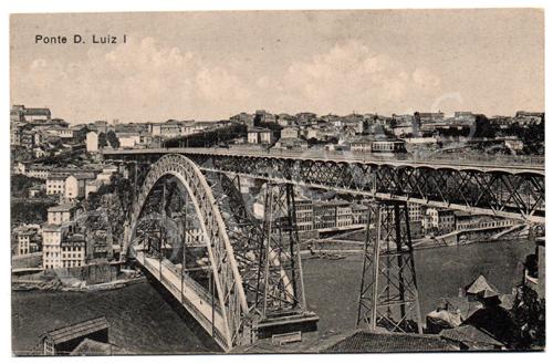 Postal antigo da Ponte D. Luiz I - Porto