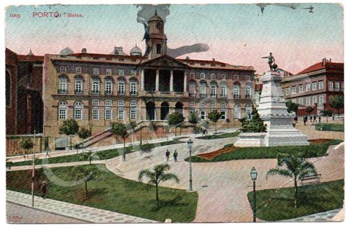 Postal antigo do Porto. Bolsa