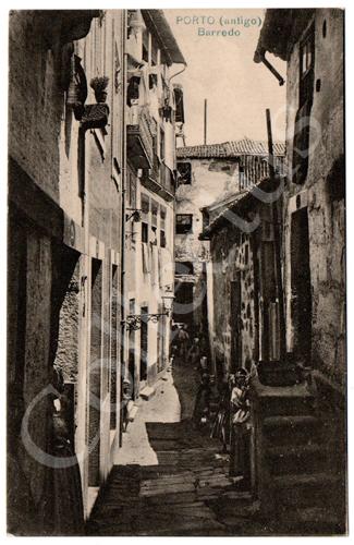 Postal antigo do Porto (antigo) Barredo