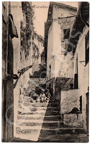 Postal Porto antigo- Escadas do Codeçal