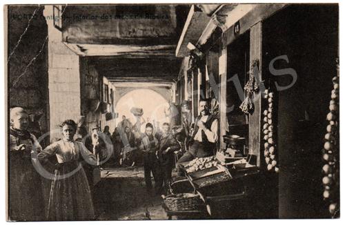 Postal Porto (antigo) – Interior dos arcos da Ribeira