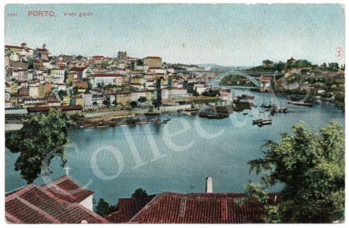 Postal antigo do Porto. Vista geral