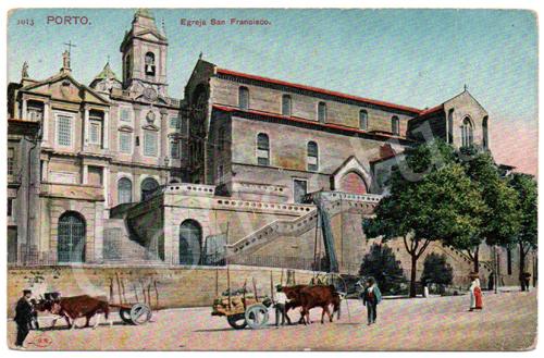 Postal antigo do Porto. Igreja de São Francisco