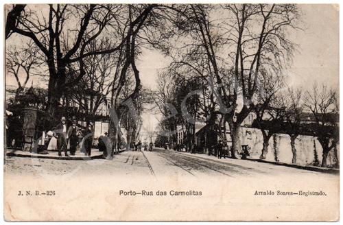 Postal antigo Porto – Rua das Carmelitas. Edição Arnaldo Soares