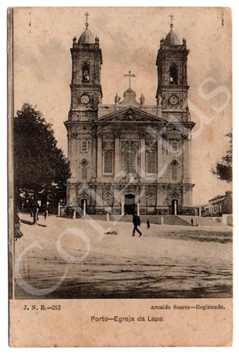 Postal antigo Porto – Igreja da Lapa. Edição Arnaldo Soares