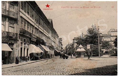 Postal antigo do Porto – Edifício da Ordem do Carmo. Edição Estrela Vermelha