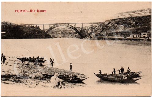 Postal antigo do Porto - Rio Douro