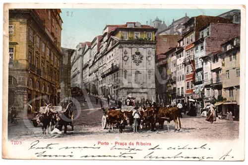 Postal antigo do Porto – Praça da Liberdade