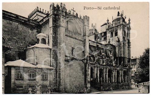 Postal antigo do Porto – Sé catedral. Edição Grandes Armazéns Hermínios