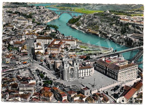 Postal antigo do Porto – Catedral, vista aérea