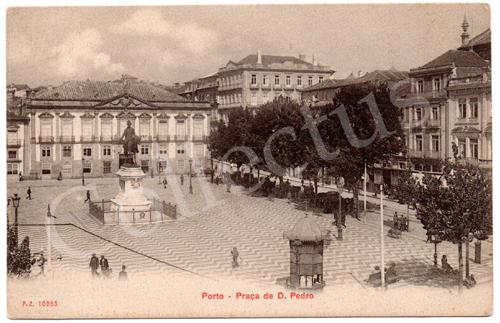 Postal antigo do Porto – Praça de D.Pedro. Edição P.Z.