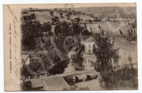 Postal antigo de Torres Novas - Ponte do Raro