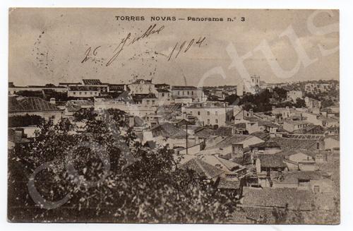 Postal antigo de Torres Novas - Panorama n.º 3