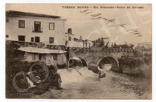 Postal antigo de Torres Novas - Rio Almonda - Ponte da Levada