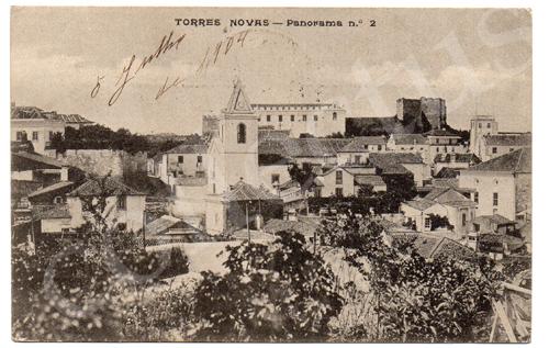 Postal antigo de Torres Novas - Panorama n.º2