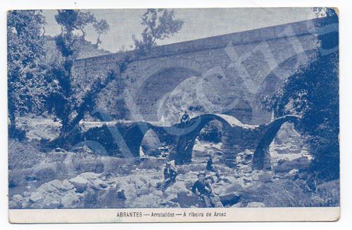 Postal antigo de Abrantes - Arrabaldes  - A ribeira de Arcez