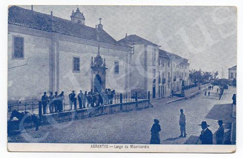 Postal antigo de Abrantes - Largo da Misericórdia