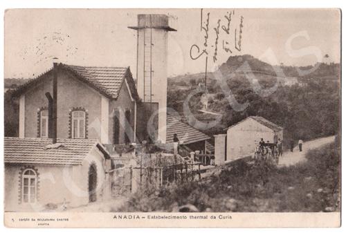 Postal antigo da Anadia - Estabelecimento termal da Cúria