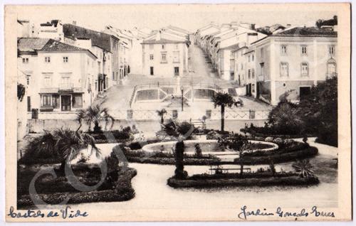 Postal antigo de Castelo de Vide. Jardim Gonçalo Enes