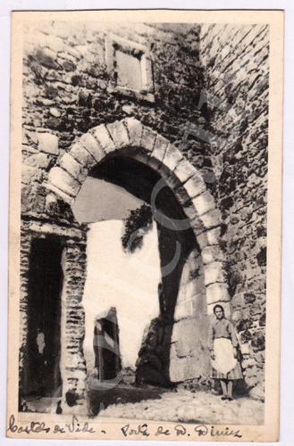 Postal antigo de Castelo de Vide. Porta de D.Diniz