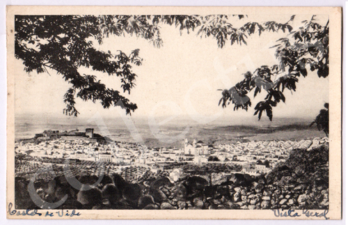 Postal antigo de Castelo de Vide. Vista Geral