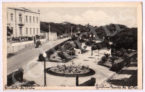 Postal antigo de Castelo de Vide. Jardim Garcia de Horta