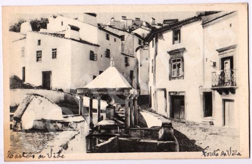 Postal antigo de Castelo de Vide. Fonte da Vila