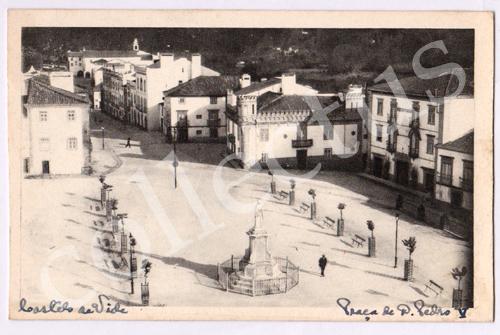 Postal antigo de Castelo de Vide. Praça de D.Pedro V
