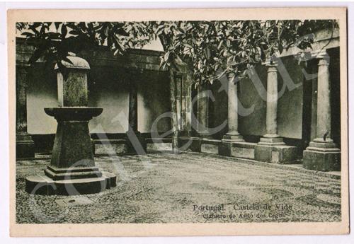 Postal antigo de Portugal. Castelo de Vide. Claustro do Asilo dos Cegos