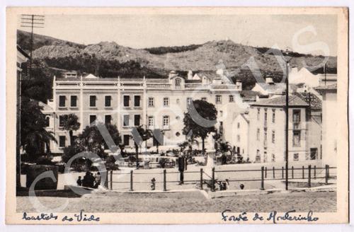 Postal antigo de Castelo de Vide. Fonte de Montorinho