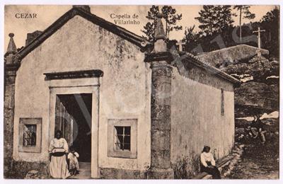 Postal antigo de Cesar. Capela de Vilarinho