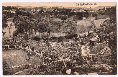 Postal antigo de Cesar - Pedra Má