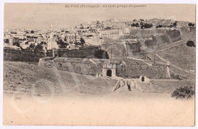 Postal antigo de Elvas (Portugal) - Grande praça de guerra