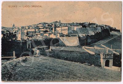 Postal antigo de Elvas - Lado Oriental