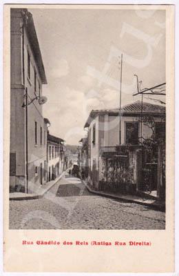 Postal antigo de Famalicão Rua Cândido dos Reis (Antiga Rua Direita)