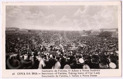 Postal antigo da Cova da Iria - Santuário de Fátima, O Adeus a Nossa Senhora