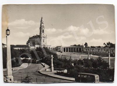 Postal antigo de Fátima. A Basílica