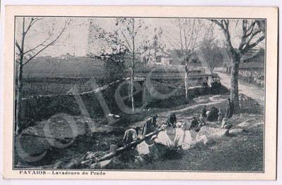 Postal antigo de Favaios - Lavadouro do Prado