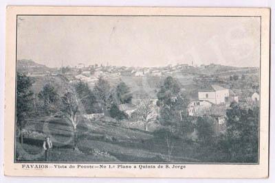 Postal antigo de Favaios - Vista do Poente
