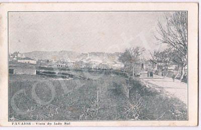 Postal antigo de Favaios - Vista do lado Sul