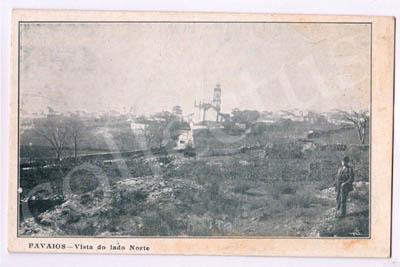 Postal antigo de Favaios - Vista do lado Norte