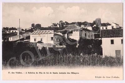 Postal antigo de Figueiró dos Vinhos - A Fábrica do Pão de Ló de Santo António dos Milagres