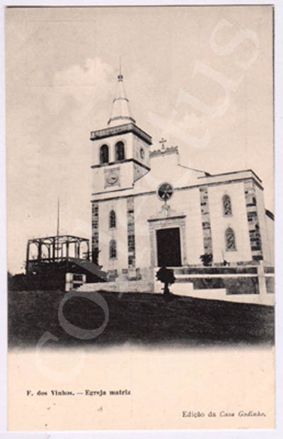 Postal antigo de Figueiró dos Vinhos - Igreja Matriz