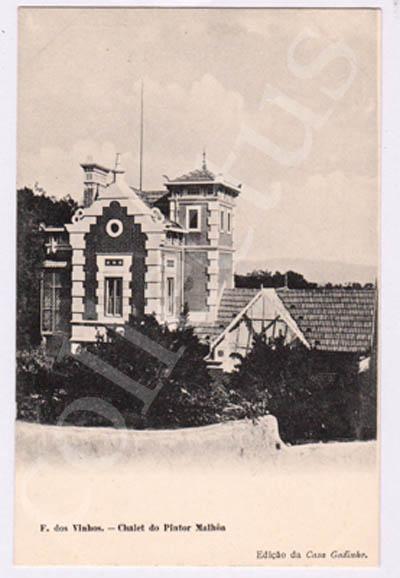 Postal antigo de Figueiró dos Vinhos - Chalet do Pintor Malhoa
