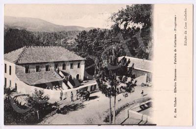 Postal antigo de Figueiró dos Vinhos  - Ribeiro Travesso - Fábrica de Cortumes «Progresso»