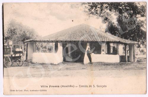 Postal antigo de Vila Fresca (Azeitão) - Ermida de S.Gonçalo