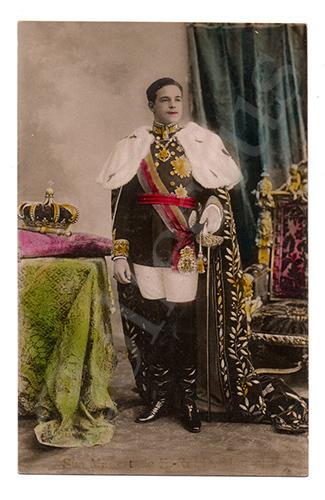 Postal antigo da Monarquia portuguesa