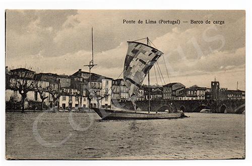 Postal antigo Ponte de Lima