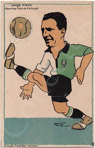 Postal antigo de futebol